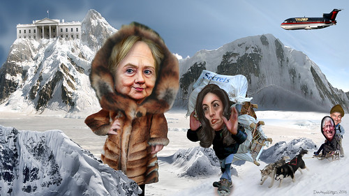 Hillary Clinton's Team Approaches The Summit | by DonkeyHotey