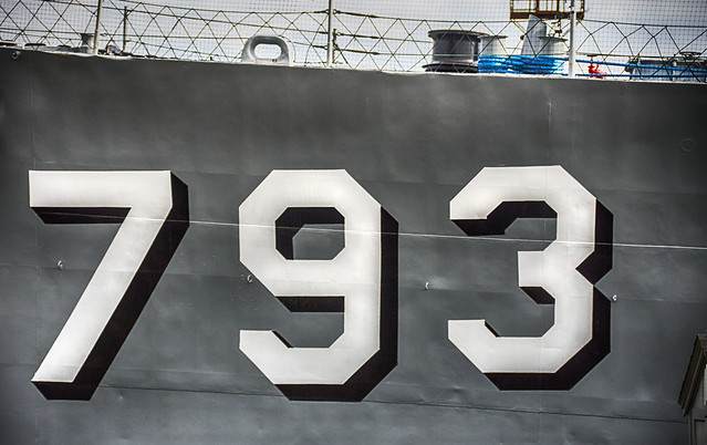 Detail--USS Cassin Young; DD 793