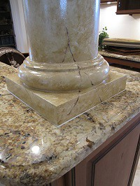 Graziano column base close up-sml | by Swan Studios Inc