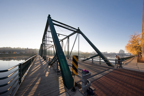 6th sixth street bridge historic grand rapids michigan grandriver sunrise