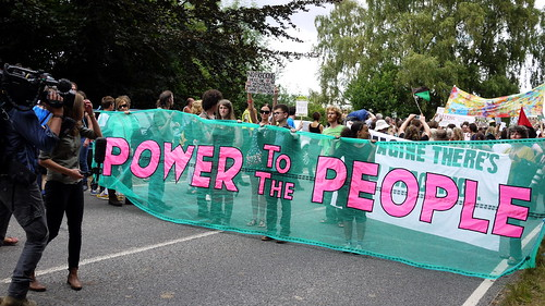 Anti-fracking campaigners at Cuadrilla drilling site at Balcombe, West Sussex | by sheilabythesea