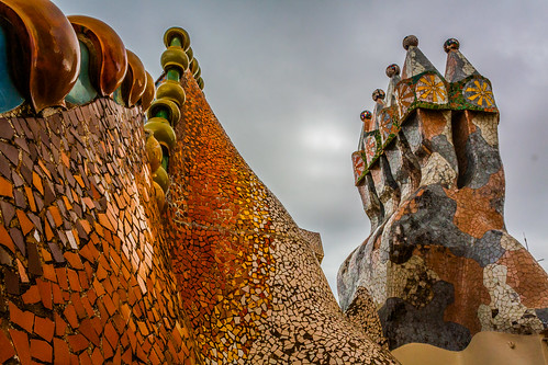 Casa batllo chimneys | by llamnudds