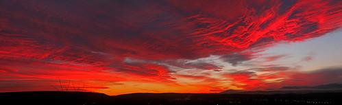 sunset red colors clouds landscape washington scenic mtadams selah