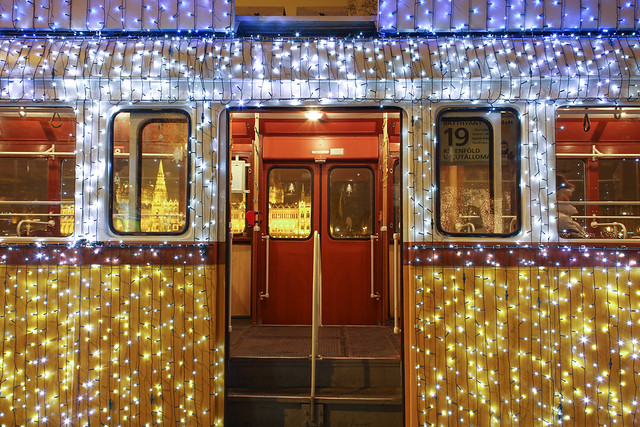#Flickr12Days Christmas tram in Budapest 15 - get on!