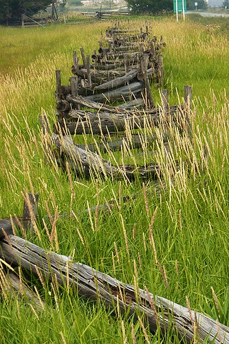 Farm Fence Chilcotin Style, Tatla Lake, Chilcotin, British Columbia