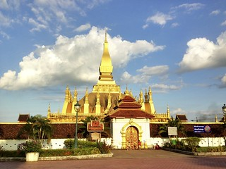 Pha That Luang Vientiane, Lao PDR | by Clay Gilliland