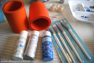 Using Martha Stewart Multi Tip Brush Set 1 | by elysianstudiosart