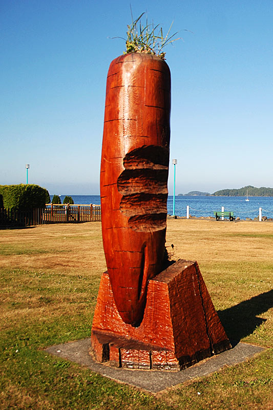 Carrot Campaign Statue, Carrot Park, Port Hardy, North Vancouver Island, British Columbia