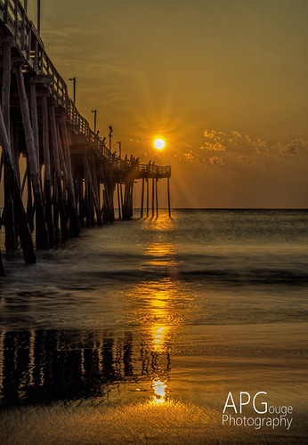 ocean sun detail beach sunrise dawn pier nikon north nagshead adobe carolina outerbanks topaz lightroom d600 adobelightroom denoise