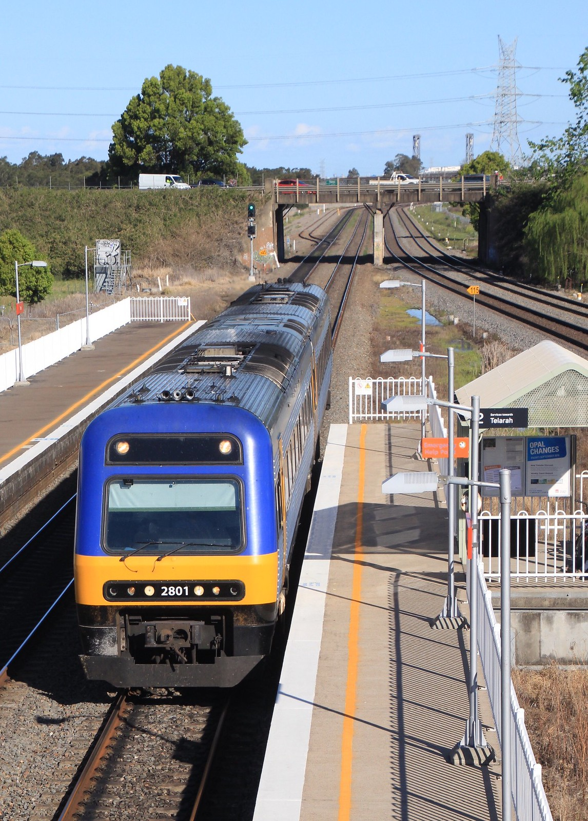 2801 arrives at Tarro with another commuter service to the Hunter region by bukk05