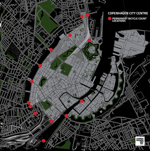 Permanent Bicycle Counting Locations | by Mikael Colville-Andersen