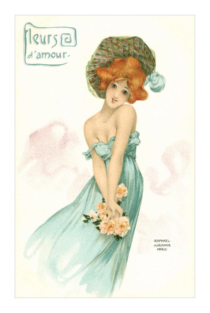 Raphael Kirchner postcard   totallymystified   Flickr