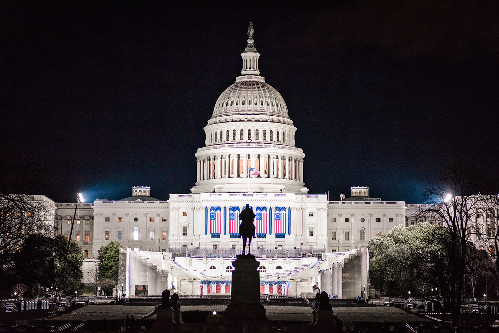 The U.S. Capitol Building Readied for Inauguration