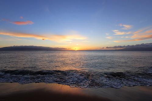 kaanapali beach sunset september 2016 maui hawaii hi pacific ocean island ハワイ 風景