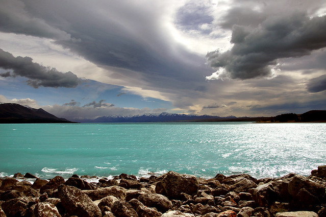 Northwest sky over Lake Pukaki.NZ
