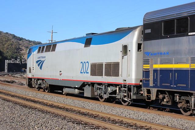 AMTK #202 (GE P42DC) in Martinez, CA