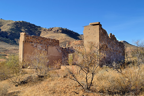 old arizona usa abandoned architecture ruins structure jail scrub sonorandesert courtland dragoonmountains early20thc cochisecounty 2013 d3200 coppermining historicghosttown edk7