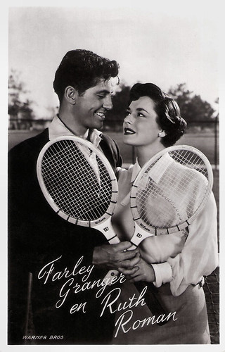 Farley Granger and Ruth Roman in Strangers on a Train (1951)