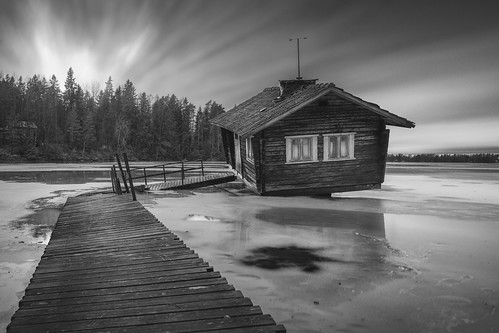 sauna landscape scenery blackandwhite longexposure hasselblad leefilters forest winter frozen ice ilobsterit