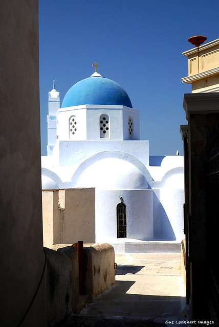 Church at Pyrgos on the island of Santorini