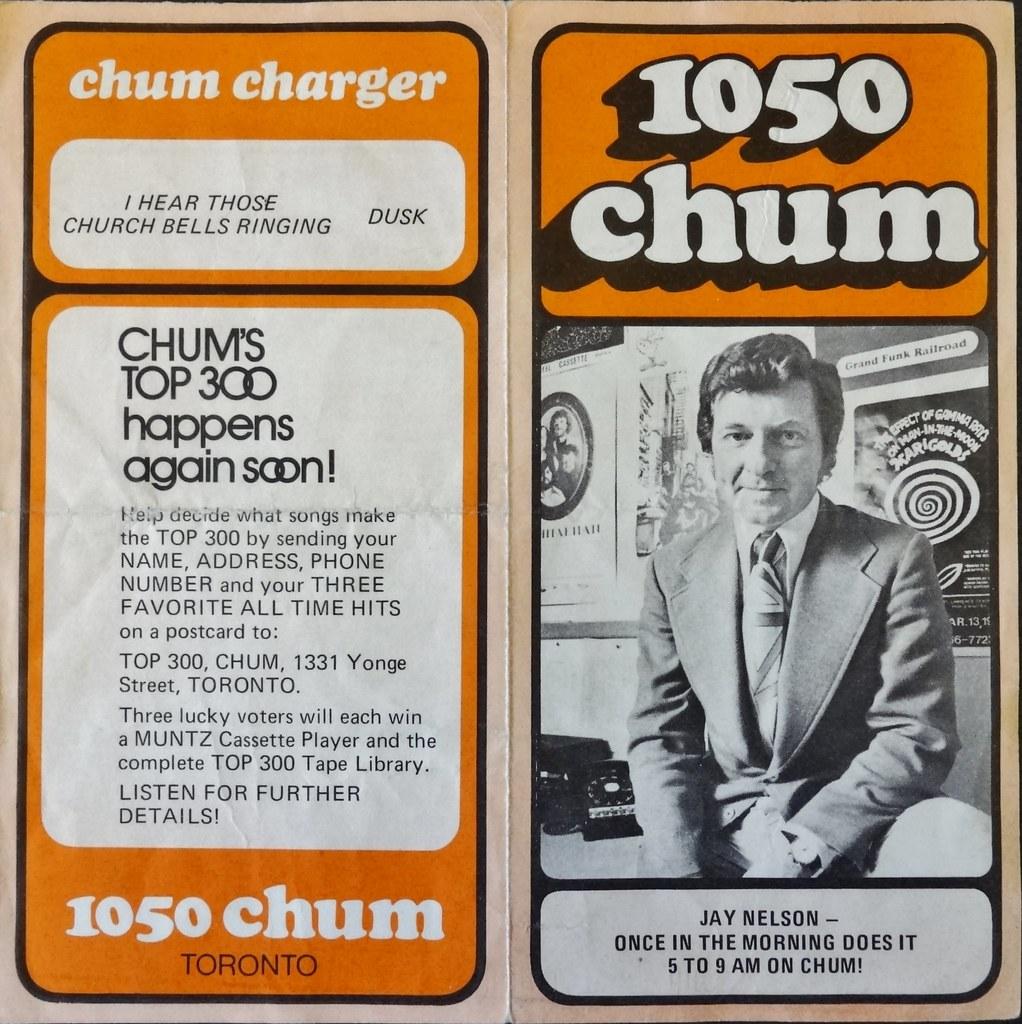 Chum Chart Cover, Aug  18, 1971 | The 1050 Chum Charts were