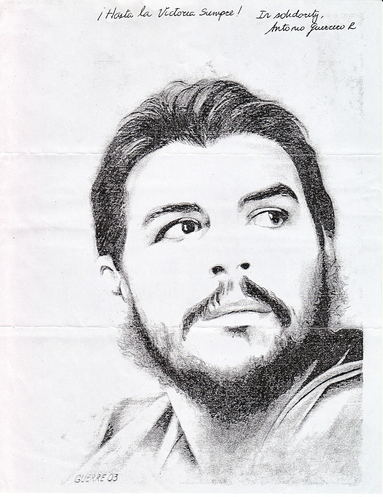 Ernesto che guevara pencil sketched by antonio guerrero r flickr