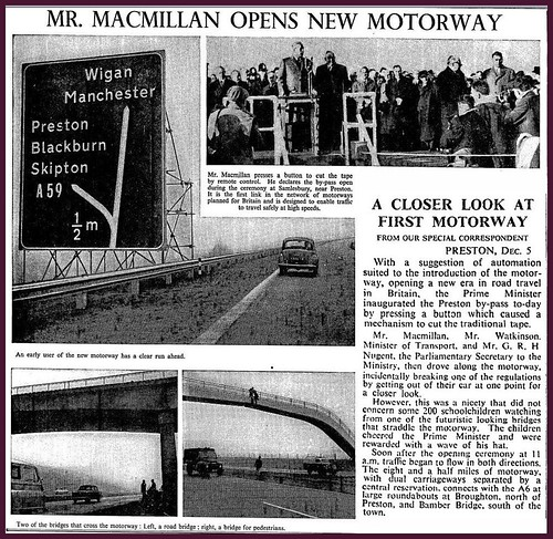 5th December 1958 - First motorway opened by Harold Macmillan | by Bradford Timeline