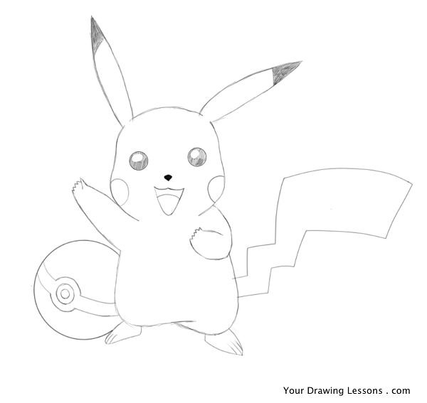 Pikachu Drawing A Drawing Of Pikachu From The Pokemon Game
