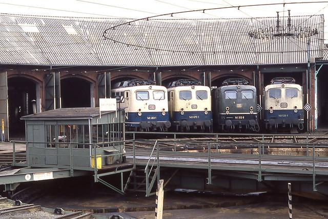 DB 140 463, 140 670, 141 312, 140 533 Bebra (D) 13 april 1990