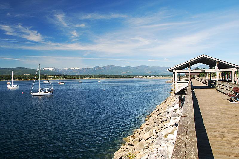 Comox Harbour, Comox, Vancouver Island, British Columbia, Canada.