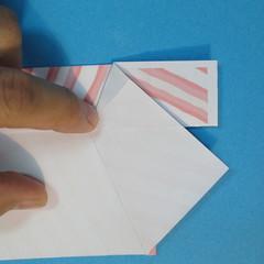 วิธีพับกล่องกระดาษรูปหัวใจส่วนฐานกล่อง 019