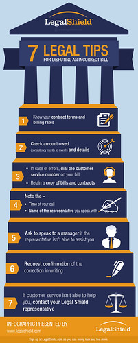 An Infographic on Legal Tips for Disputing an Incorrect Bill