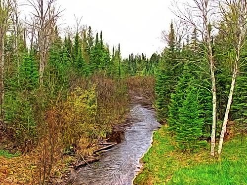 michigan superphoto troutstream paintingeffect deltacounty hiawathanationalforest highway509 creativefilters haymeadowcreek michigantroutstream