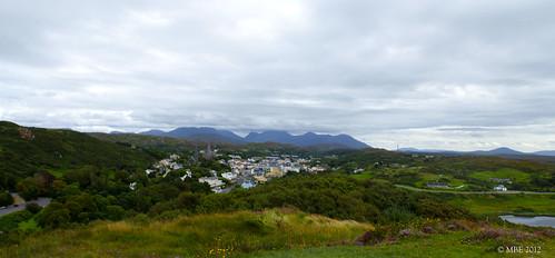 galway clifden mbe ireland westofireland connemara mountains town landscape panorma 2012 sky september summer