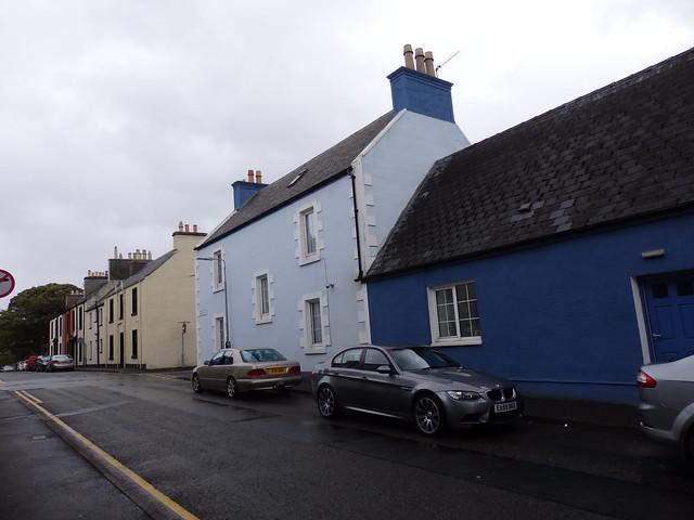 Blue buildings in Stornoway