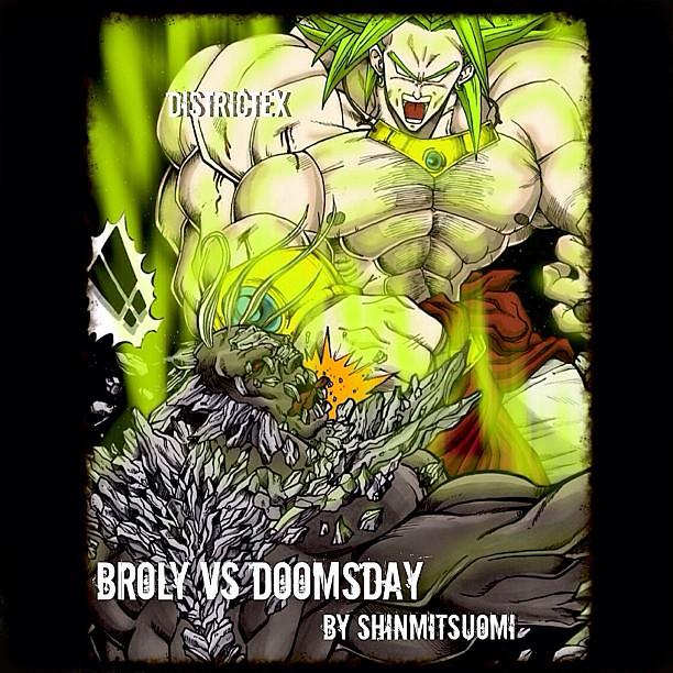 Concept Art Dbz Broly Vs Dc Comics Doomsday By Shinmitsu Flickr