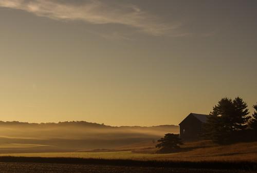 fog sunrise october olympus em5 charlevoixcounty