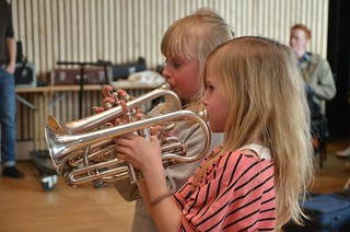 Lilla Brassbandfestivalen 2013 - Alva Svensson och Hanna Ekros i solisttävlingen
