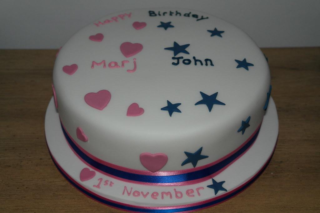 Super Joint Birthday Cake A Photo On Flickriver Personalised Birthday Cards Xaembasilily Jamesorg