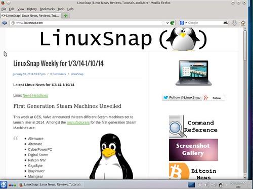 Kubuntu 14.04 Alpha 2 Firefox   by LinuxSnap