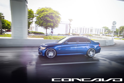 BMW 3series Sedan on CW-S5 Matte Grey Machined Face | by Concavo Wheels