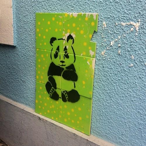 Panda stencil on tiles - Igersaustria on tour #instawirbel ...