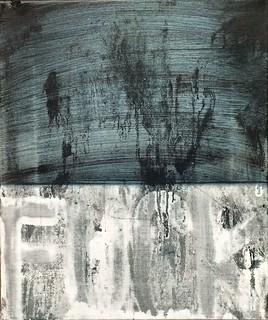 Zavier Ellis 'Black Standard: Fuck Your Morals 1', 2016 Oil on linen 30x25cm