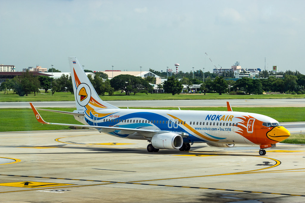 นกฟ้าคราม Nok Air HS DBW Boeing 737 88L | @VTBD