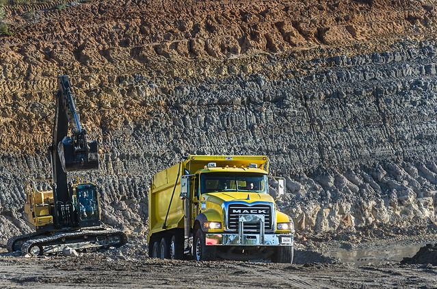 Mack Granite mining kaolin clay in Huntingdon Tennessee