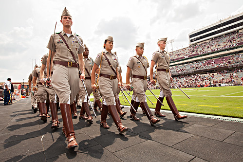 Corp of Cadets march in - Alabama game
