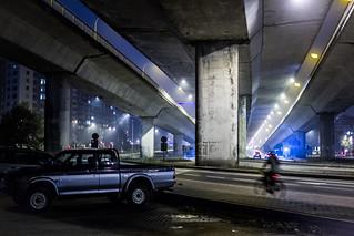 City jungle at nighttime
