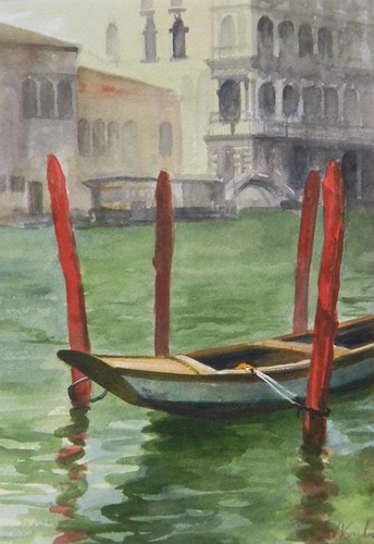 Boat at Ca Rezzonico, Venice- SOLD