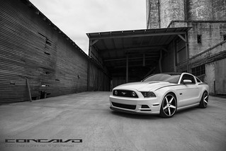 Ford Mustang GT on CW-5 Matte Black Machined Face | by Concavo Wheels