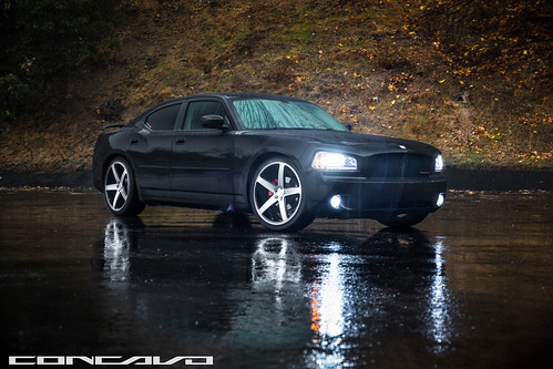Dodge Charger on CW-5 Matte Black Machined Face | by Concavo Wheels